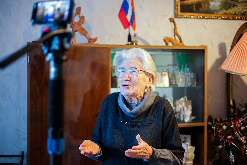 Нине Александровне Бочкаревой 90 лет