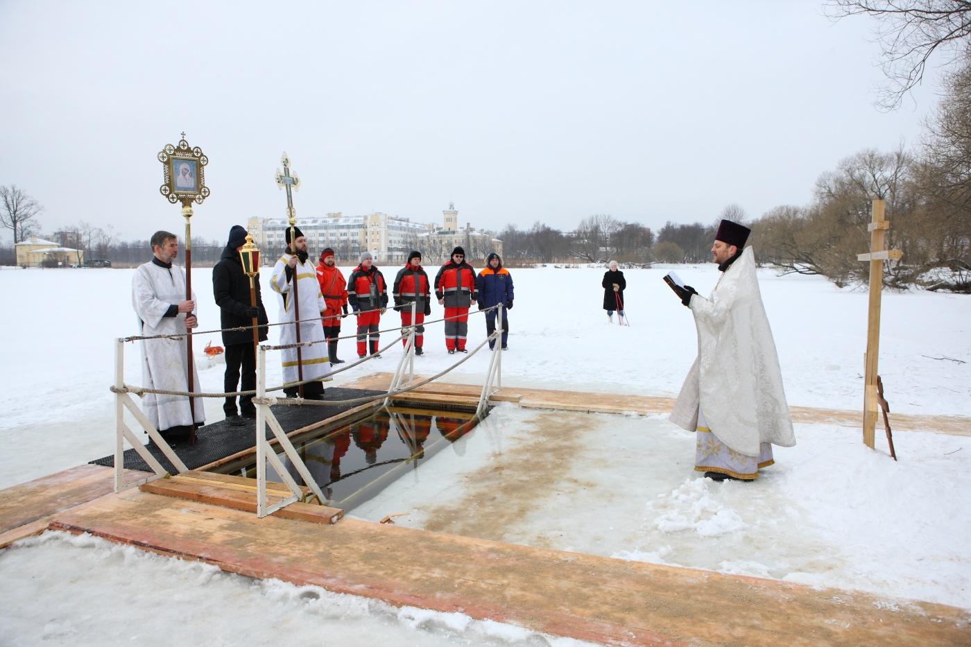 Места крещенских купаний в Петродворцовом районе