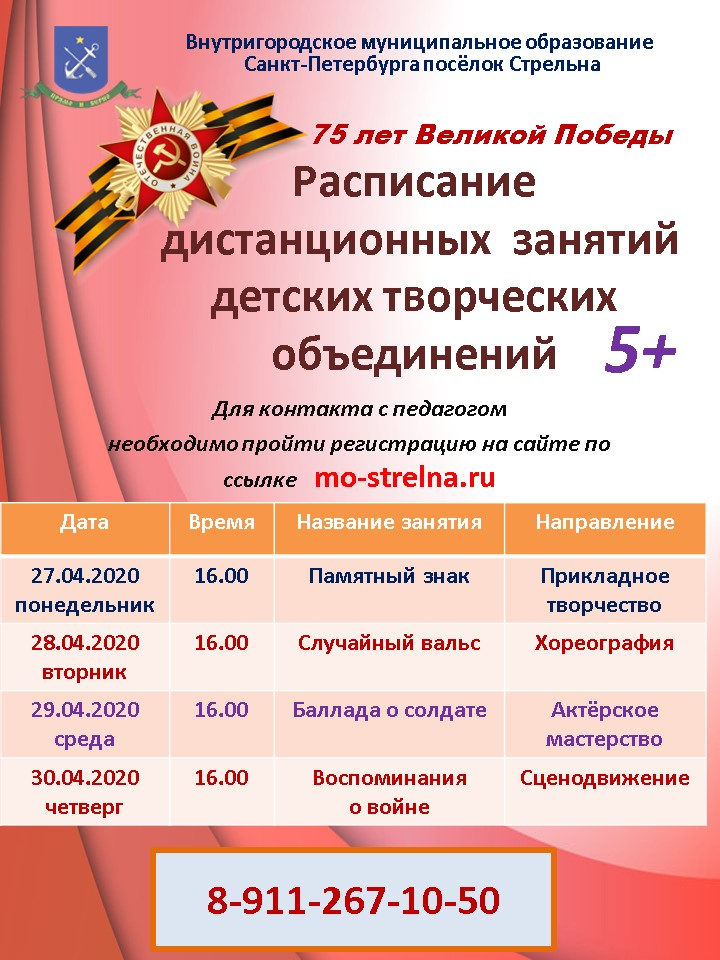 Кружки во Львовском онлайн #75ЛЕТПОБЕДЫ